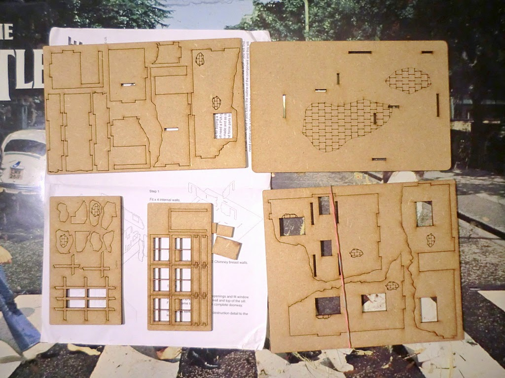 The Figure Fanatic: Timeline Miniatures 28mm ruined buildings review