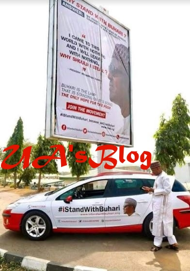 #iStandWithBuhari Billboards And Vehicles Resurface In Abuja Ahead Of 2019 Elections (Photos)
