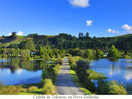 Cidade de Tokoroa na Nova Zelândia