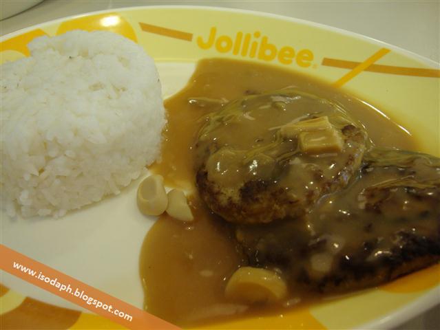 Jollibee 2 Piece Burger Steak Isoda Philippines