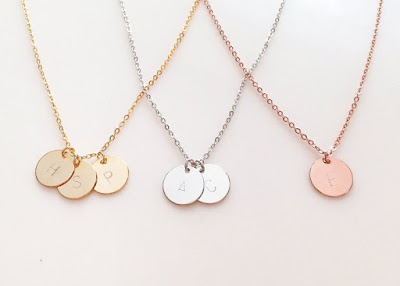 Initial Disc Necklace $14.50 + free shipping