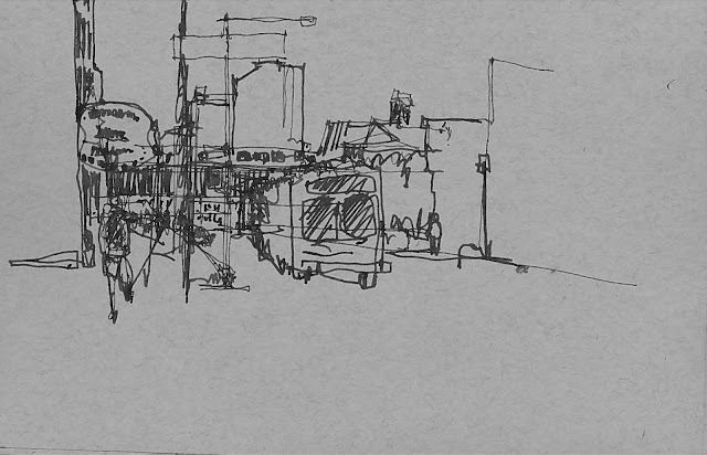 New York City Urban Sketchers: Gritty-Urban Sketching Long