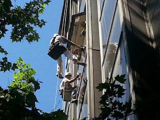 fotos trabajos fachadas en altura madrid