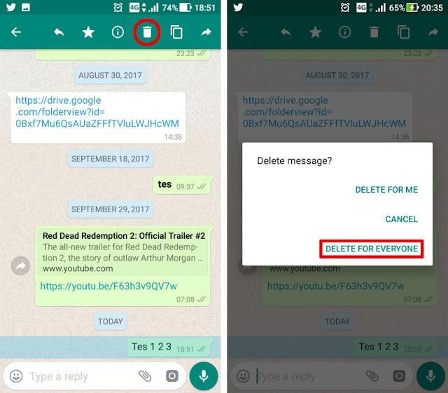 Fitur Baru dari WhatsApp, Pesan yang Salah Kirim Bisa Dihapus Begini Caranya