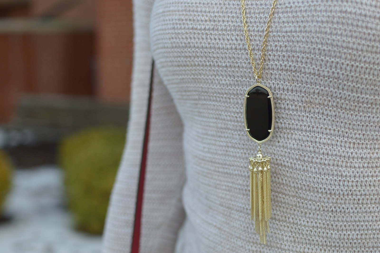 black kendra scott rayne necklace