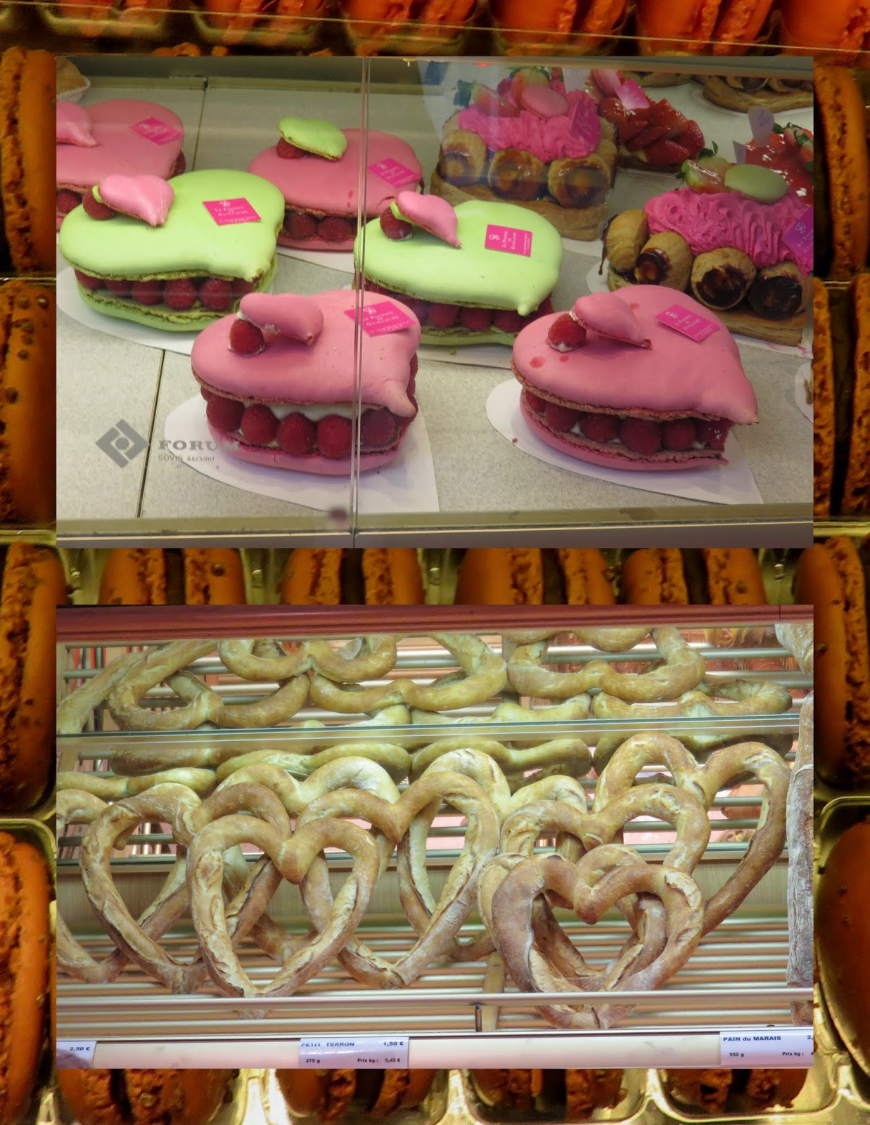 Valentine's Day Weekend in Paris - Heart shaped pastries and pretzels
