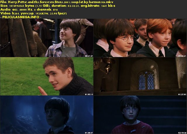 Descargar Harry Potter y la piedra filosofal Latino por MEGA.
