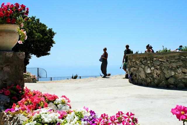 cielo, fiori, piazzale, terrazza, anacapri, turisti