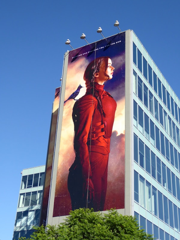 Giant Katniss Mockingjay Part 2 billboard