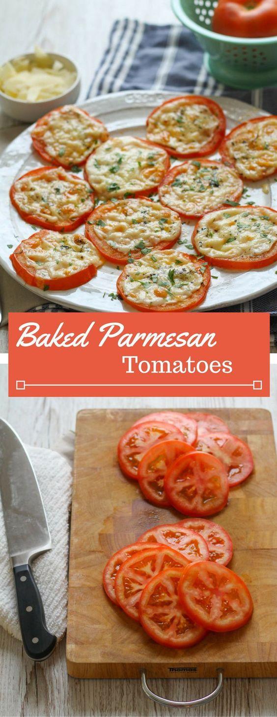 BAKED PARMESAN TOMATOES #bake #parmesan #tomatoes #healthyrecipes #healthyfood #healthysnacks