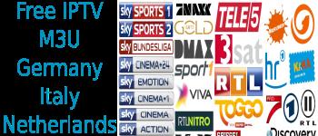 Free IPTV M3U Sky Bundesliga Germany calcio Italy NL