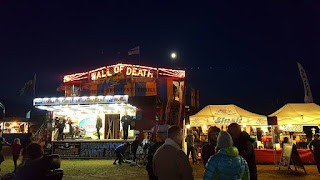Outside the wall of death at Bristol Volksfest