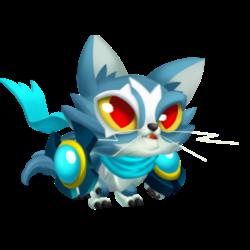 Apariencia del Dragón Gato Kun de bebé.