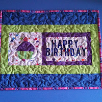 birthday cupcake mini quilt