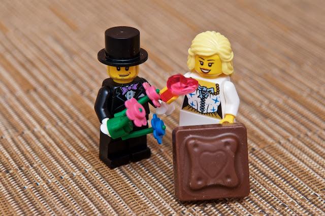 Lego - Advent Calendar - Calendrier de l'Avent - Lego - Love - Heart - Amour - Marriage - Mariage Lego - Chocolat au lait