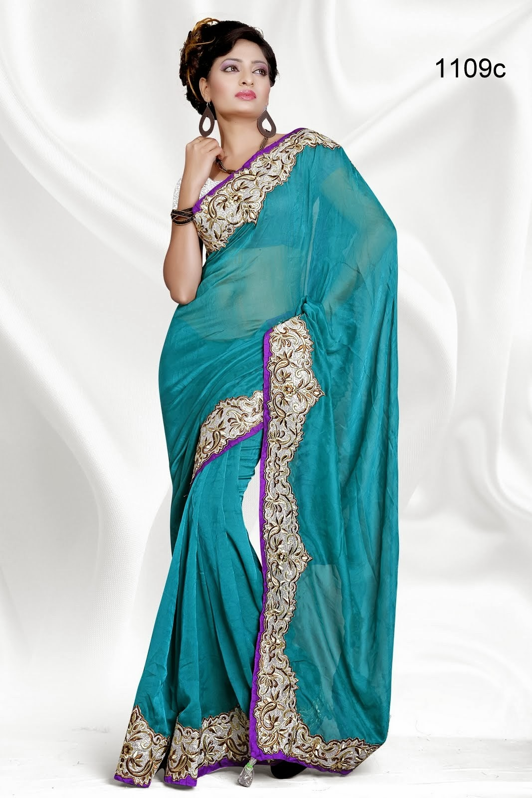 Indian Fancy Saree Collection Stylish Indian Actress Saree