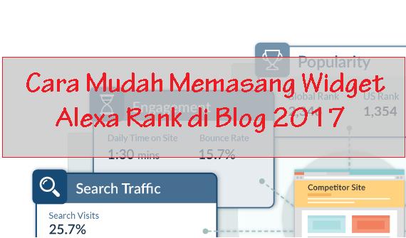 Cara Mudah Memasang Widget Alexa Rank di Blog