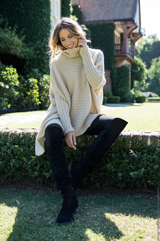 Polerones invierno 2016 Milana Sweaters. Moda 2016 tejidos.