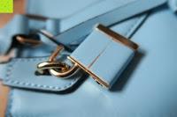 Schloss: Veevan Damen Elegante Top-Handle Schultertasche Handtaschen (Blau)