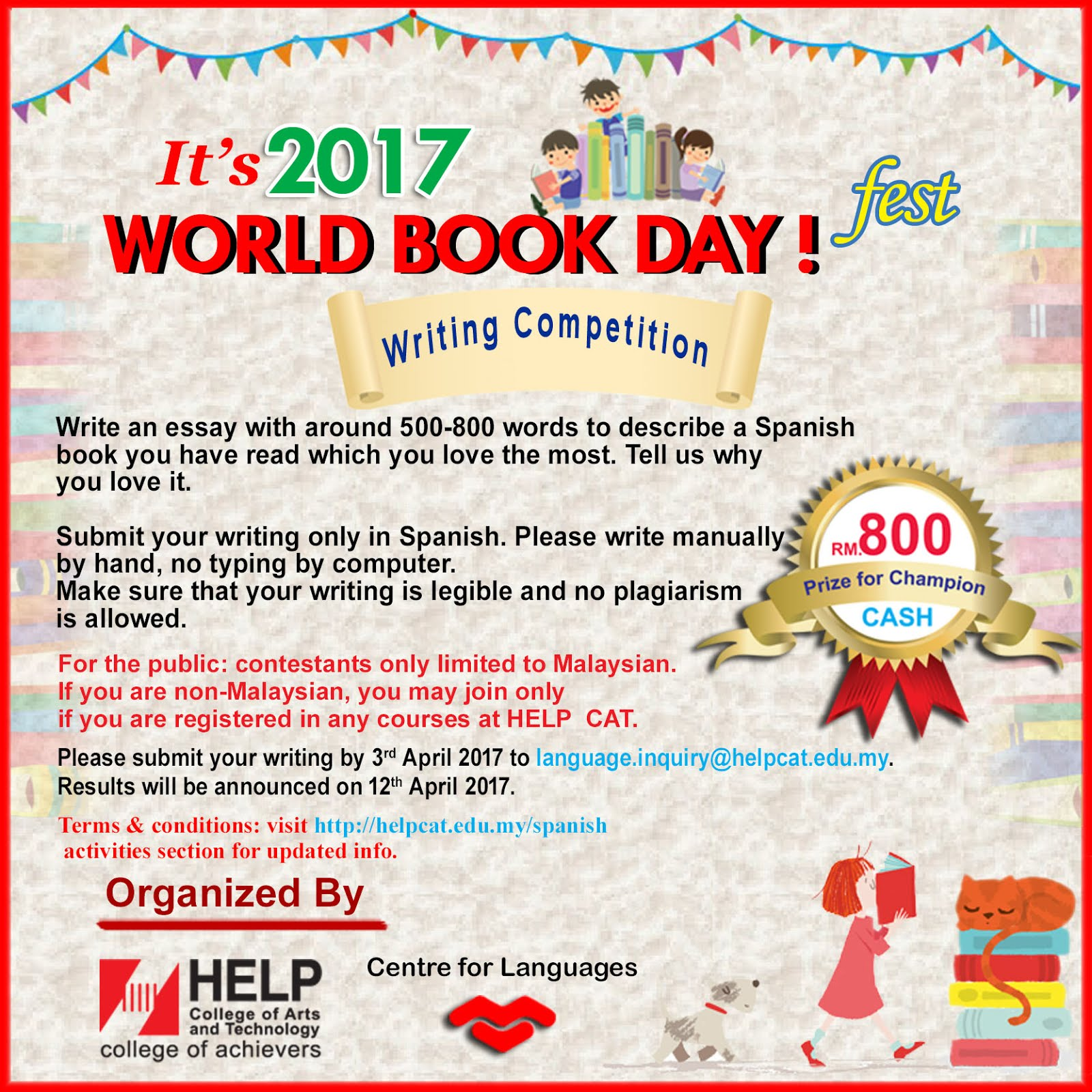language and culture in kuala lumpur world book day writing write an essay around 500 800 words to describe a spanish book you have and which you love the most tell us why you love it