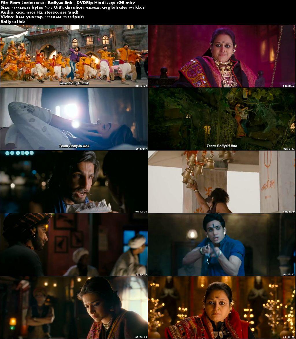 Ram Leela 2013 DVDRip 450Mb Full Hindi Movie Download 480p