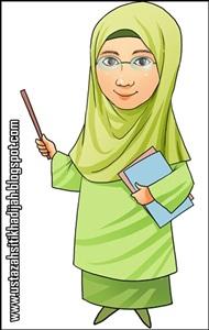 Gambar Kartun Guru Sedang Mengajar Kata Kata