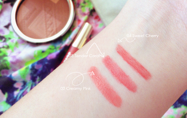 Clarins Colours of Brazil Lip Balm Crayon swatches