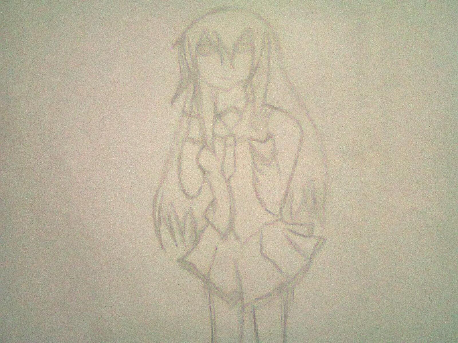 Gambar anime pake pensil