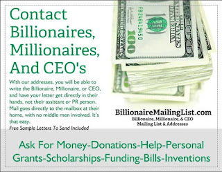 The Billionaire Mailing List July 2015
