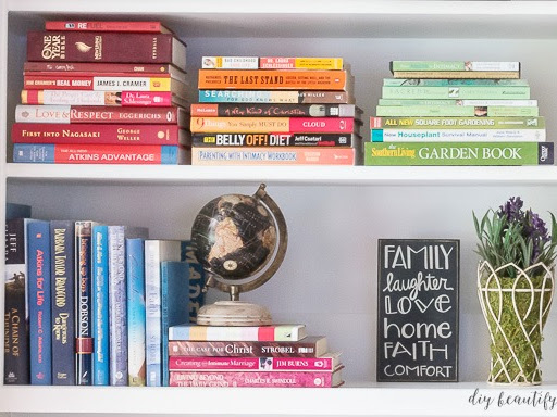 How to Creatively Style Large Bookshelves
