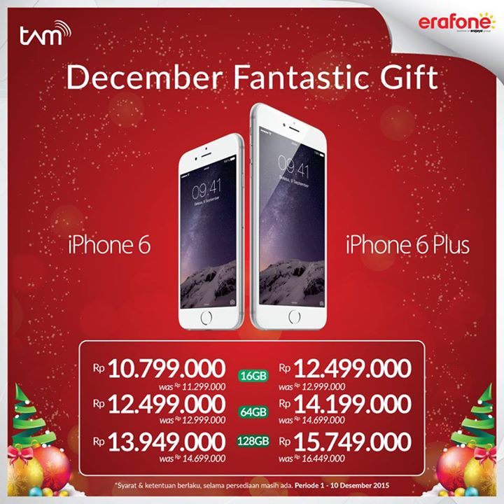 iPhone Desember Fantastic Gift Promo Akhir Tahun 2015 di Erafone 9209e037f7