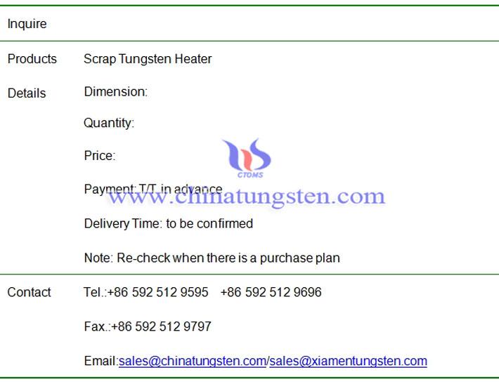 Customized Tungsten Metal