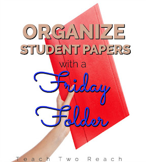 What to do with all those student papers? Organize everything that need to be sent home with this Friday Folder classroom management tip