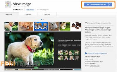 mengembalikan tombol view images pada google