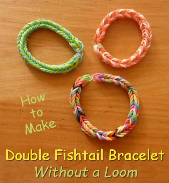 double fishtail bracelet designs pastel colors full craft tutorial