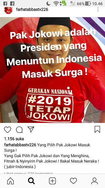 Tunai! Ini Hukuman Farhat Abbas Soal Pro Jokowi Masuk Surga