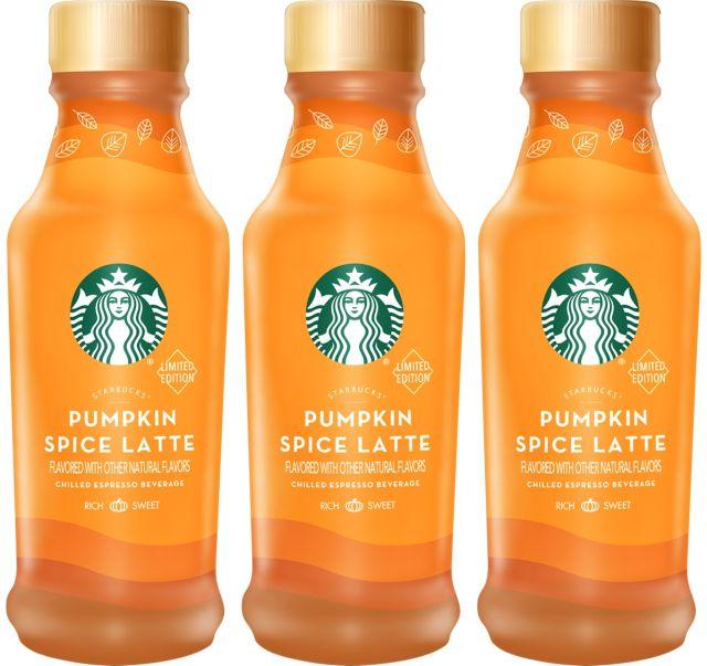 New Bottled Starbucks Pumpkin Spice Latte Arriving This