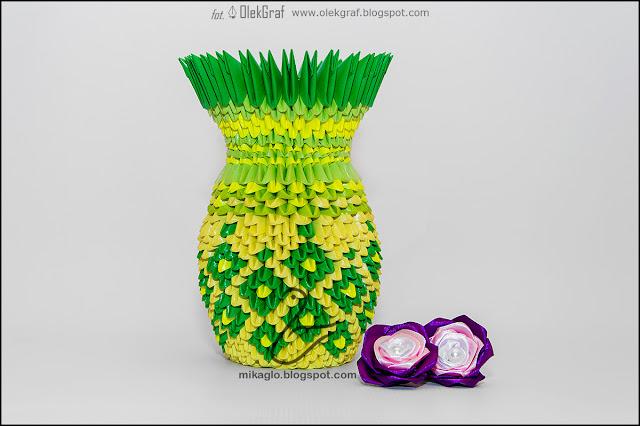 373. Wazon wiosenny / 3d origami spring vase