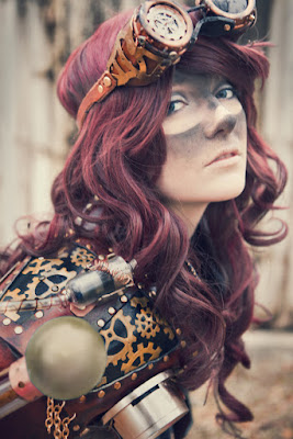Steampunk makeup tutorial for DIY dirty goggle marks around eyes. How to create this fx for dieselpunk or steampunk costumes
