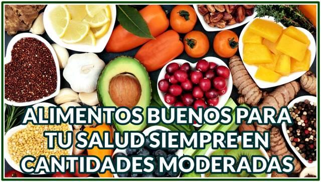 Grasas buenas, frutas y verduras para una dieta saludable