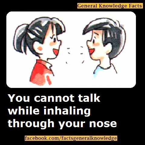 You cannot talk while inhaling through your nose