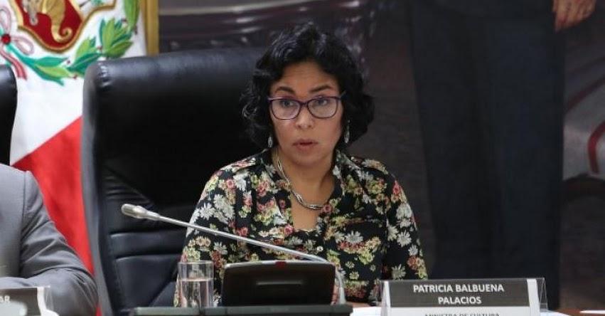 Renunció Ministra de Cultura Patricia Balbuena, informó el presidente Martín Vizcarra [VIDEO]