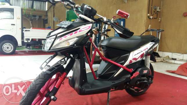 modifikasi mio m3 touring terkeren