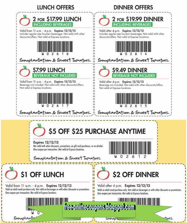 Sweet tomatoes discount coupons