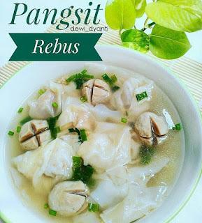 Ide Resep Masak Wonton Soup aka Pangsit Rebus