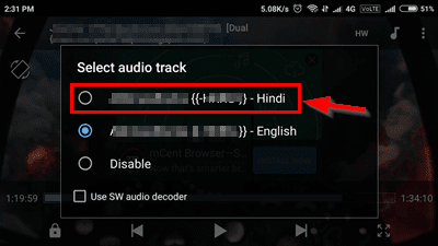 Select hindi