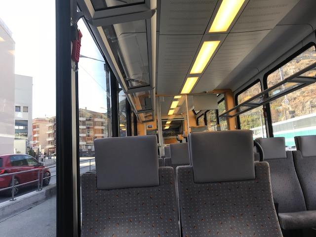 スイスのブリークから列車でツェルマットへ