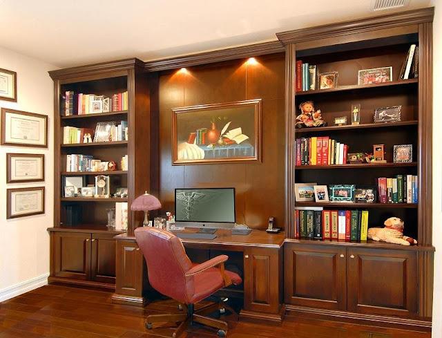 best custom home office desk and shelves design ideas