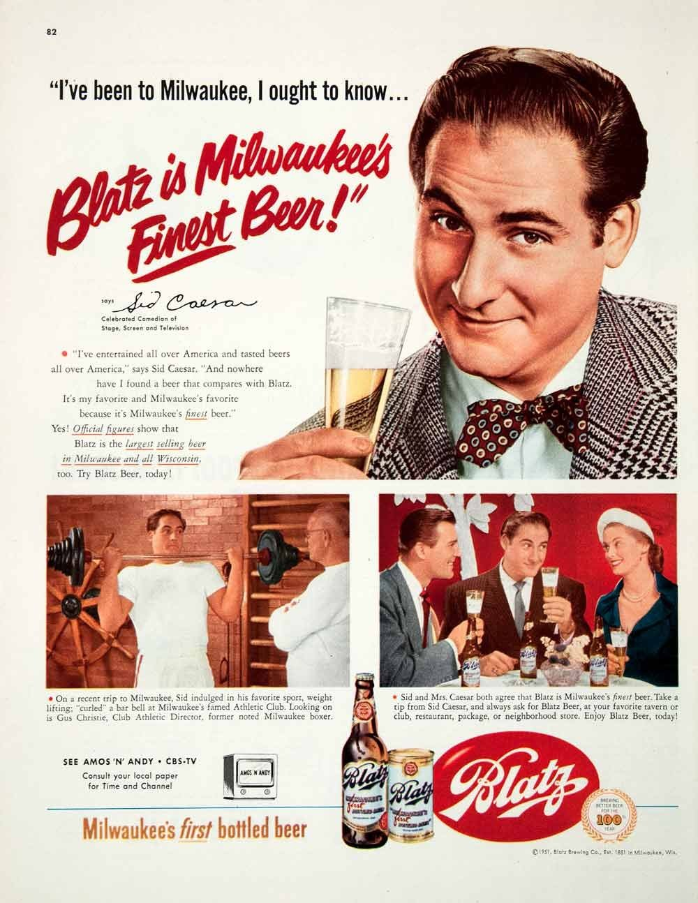 Dear Old Hollywood Hollywood and Beer  Vintage Blatz